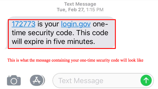 Phone text confirmation code help image